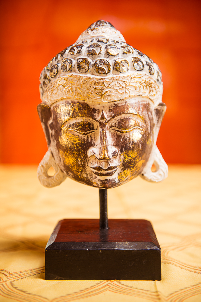 Hand-carved Buddha Head