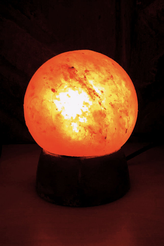 Spherical Rock Salt Lamp